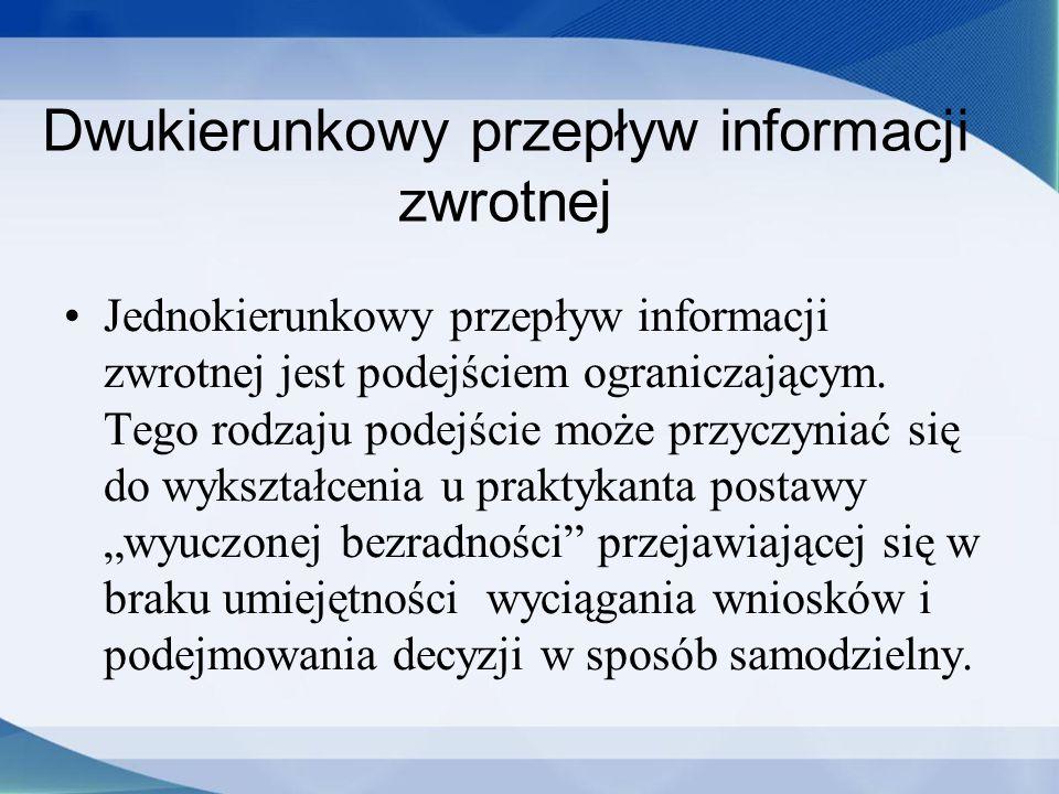 Dwukierunkowy przepływ informacji zwrotnej