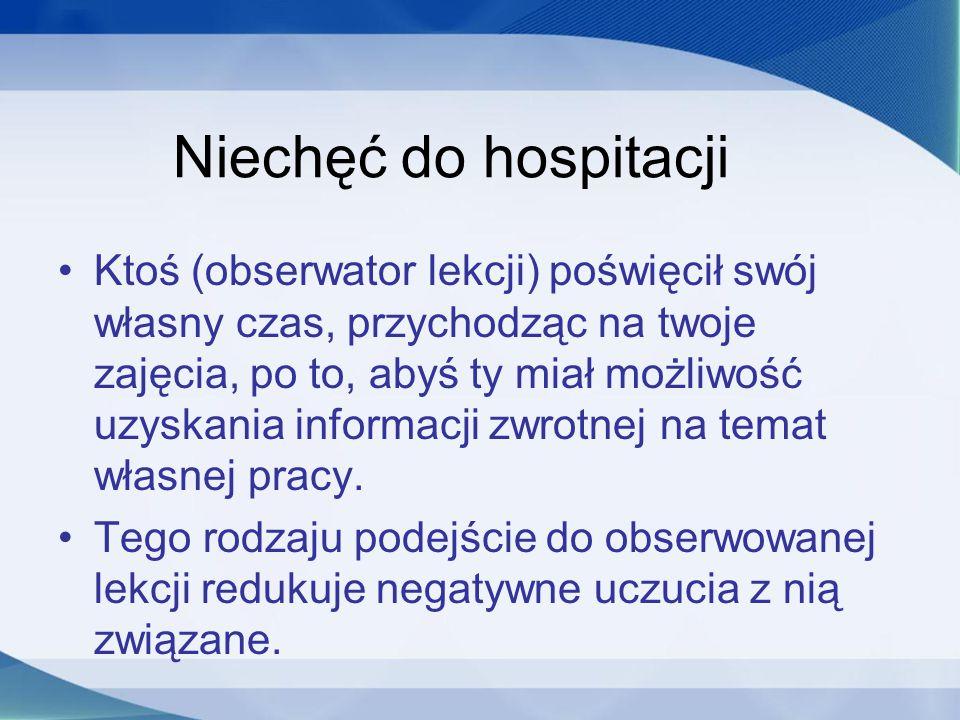 Niechęć do hospitacji