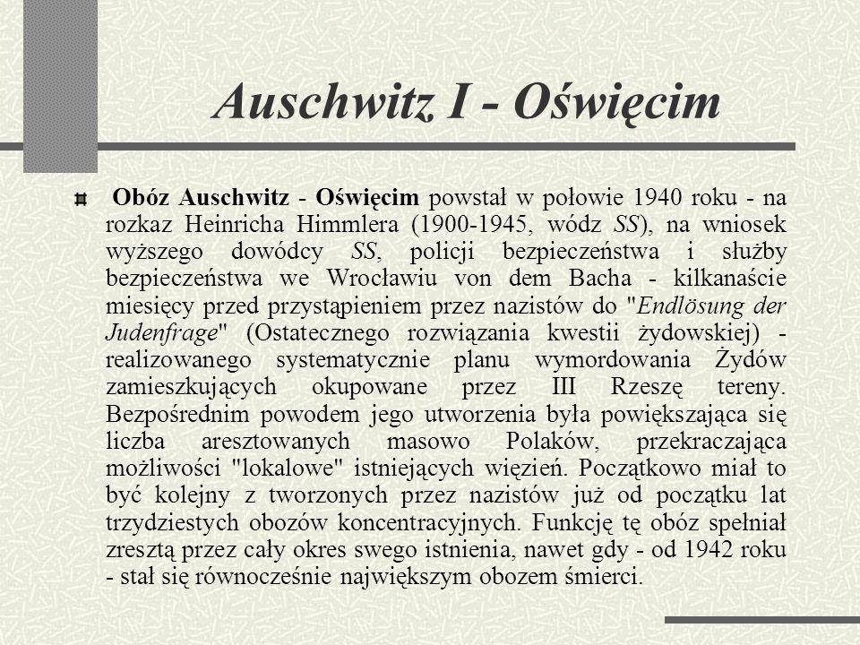Auschwitz I - Oświęcim