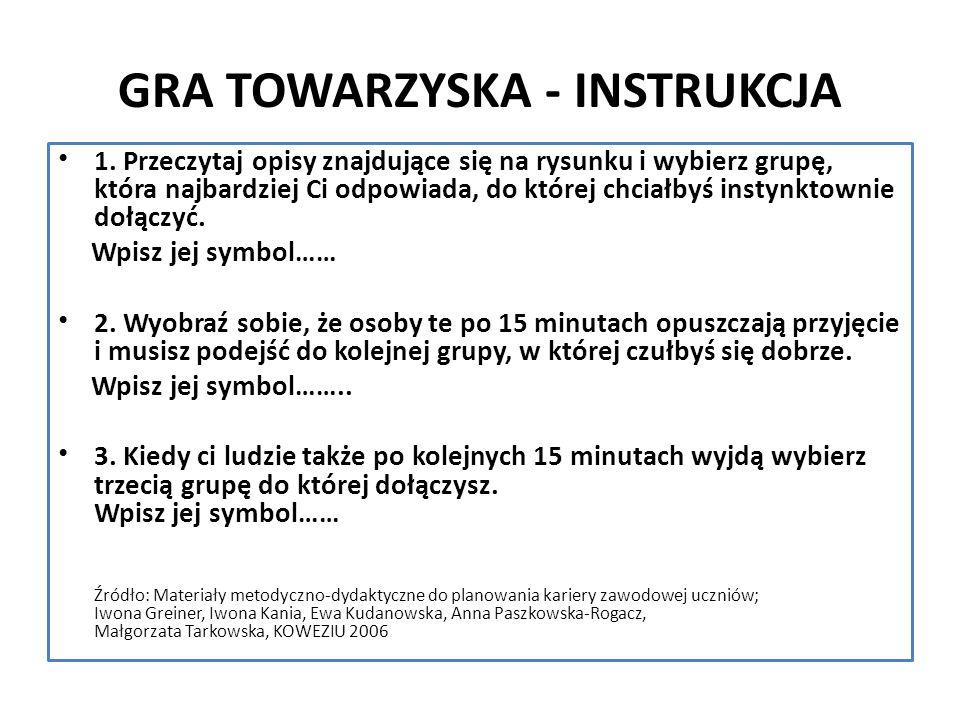 GRA TOWARZYSKA - INSTRUKCJA