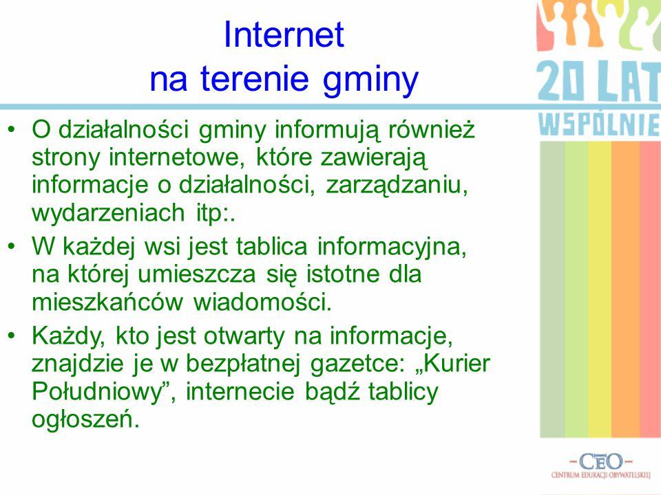 Internet na terenie gminy