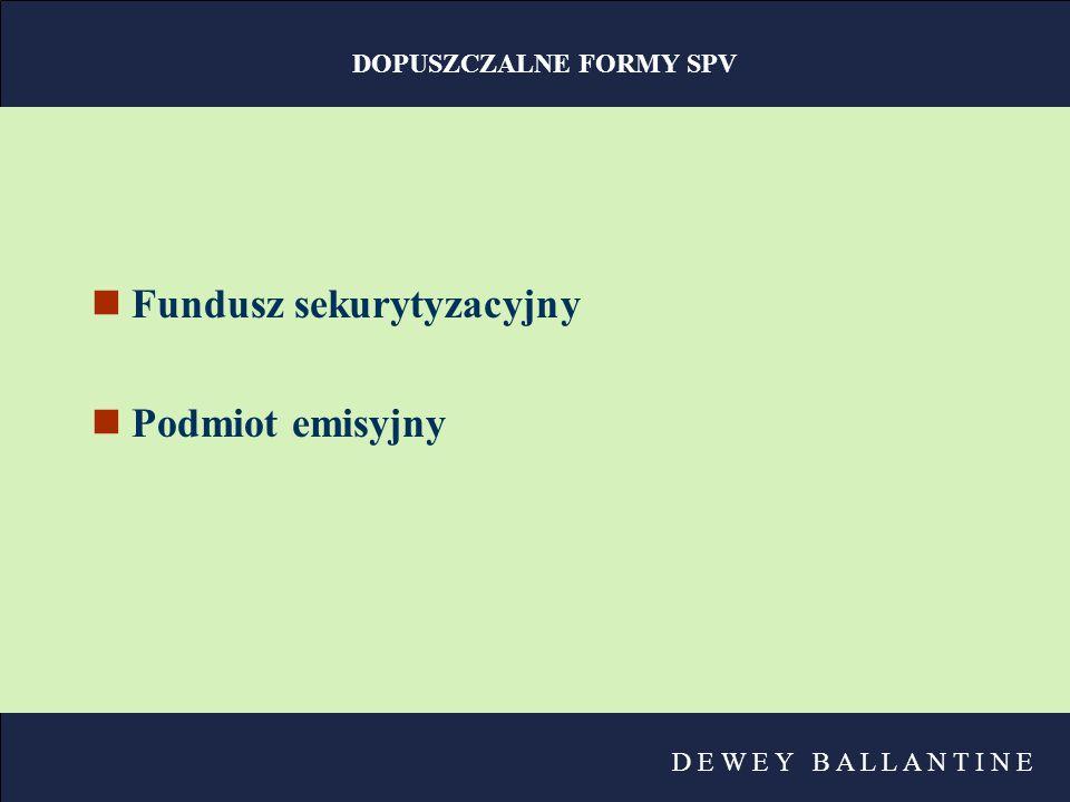 DOPUSZCZALNE FORMY SPV