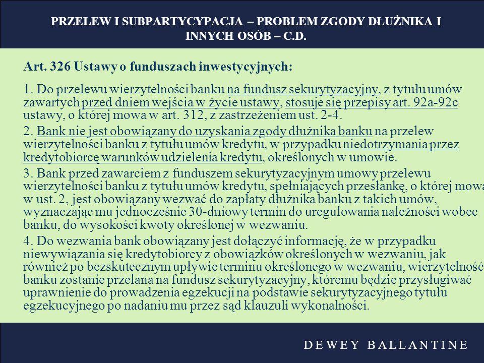 Art. 326 Ustawy o funduszach inwestycyjnych: