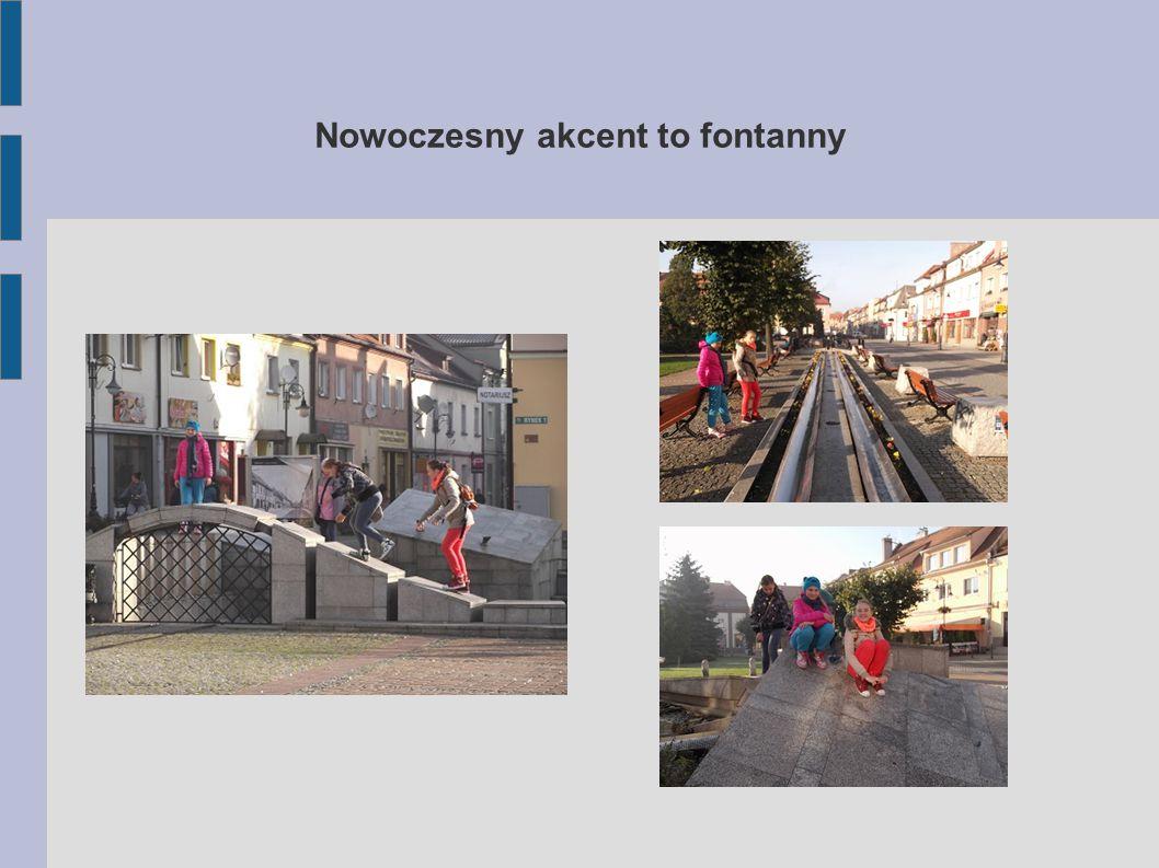 Nowoczesny akcent to fontanny