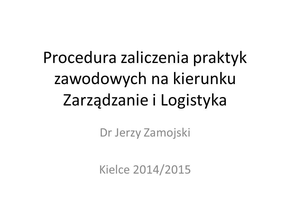 Dr Jerzy Zamojski Kielce 2014/2015