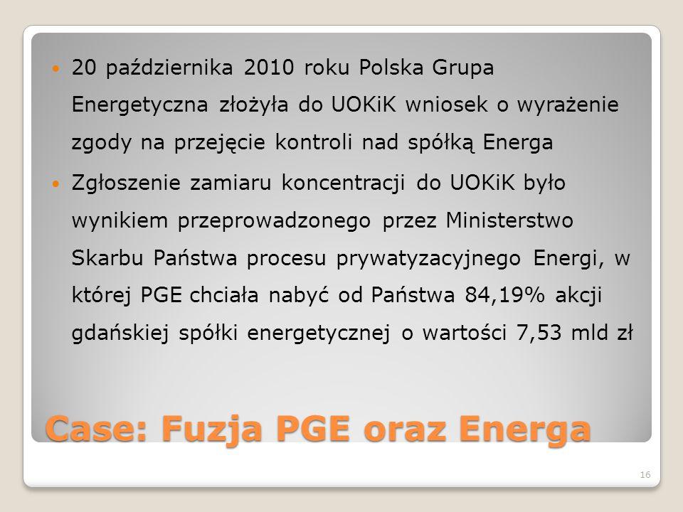 Case: Fuzja PGE oraz Energa