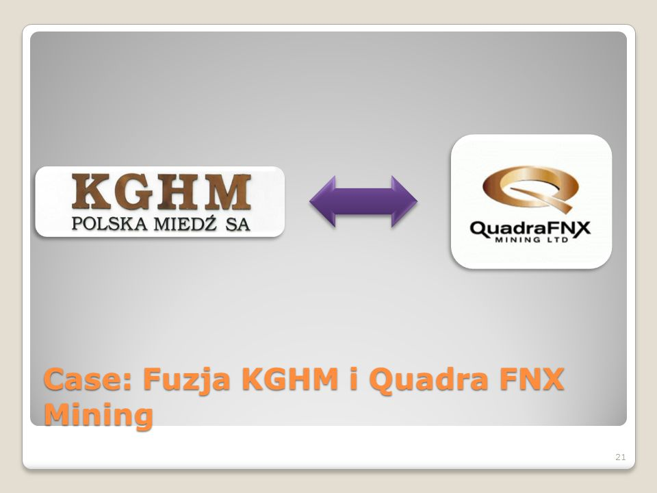 Case: Fuzja KGHM i Quadra FNX Mining