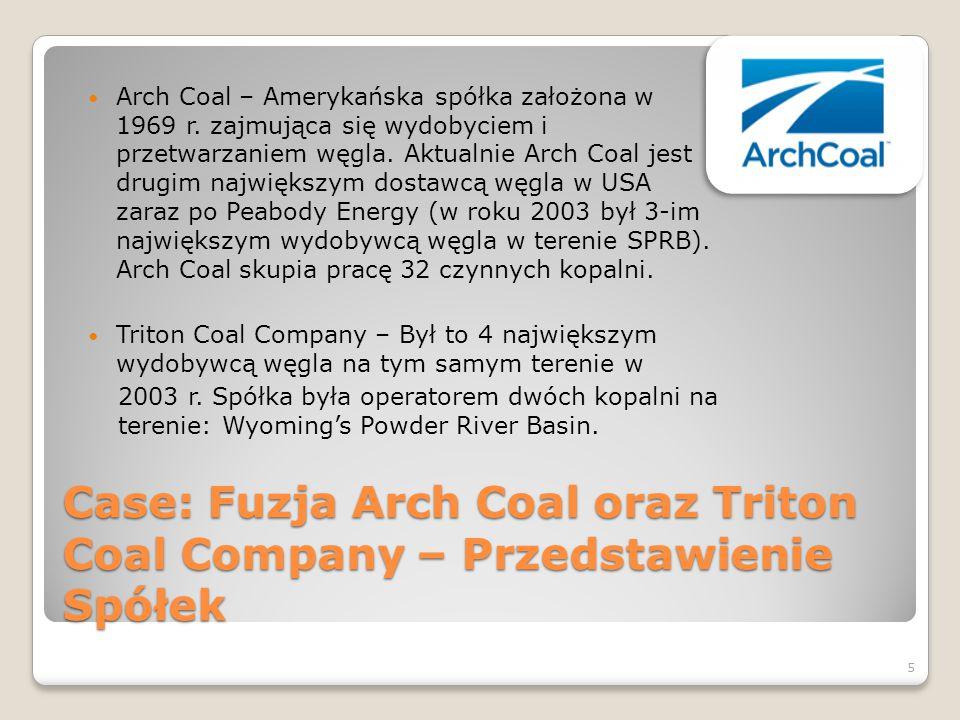 Case: Fuzja Arch Coal oraz Triton Coal Company – Przedstawienie Spółek