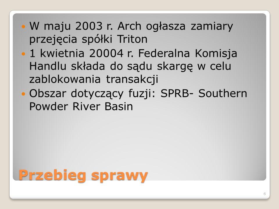 W maju 2003 r. Arch ogłasza zamiary przejęcia spółki Triton