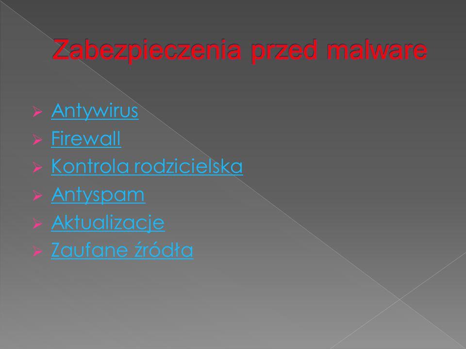 Zabezpieczenia przed malware