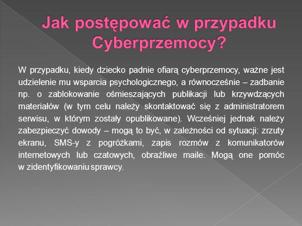 Jak postępować w przypadku Cyberprzemocy