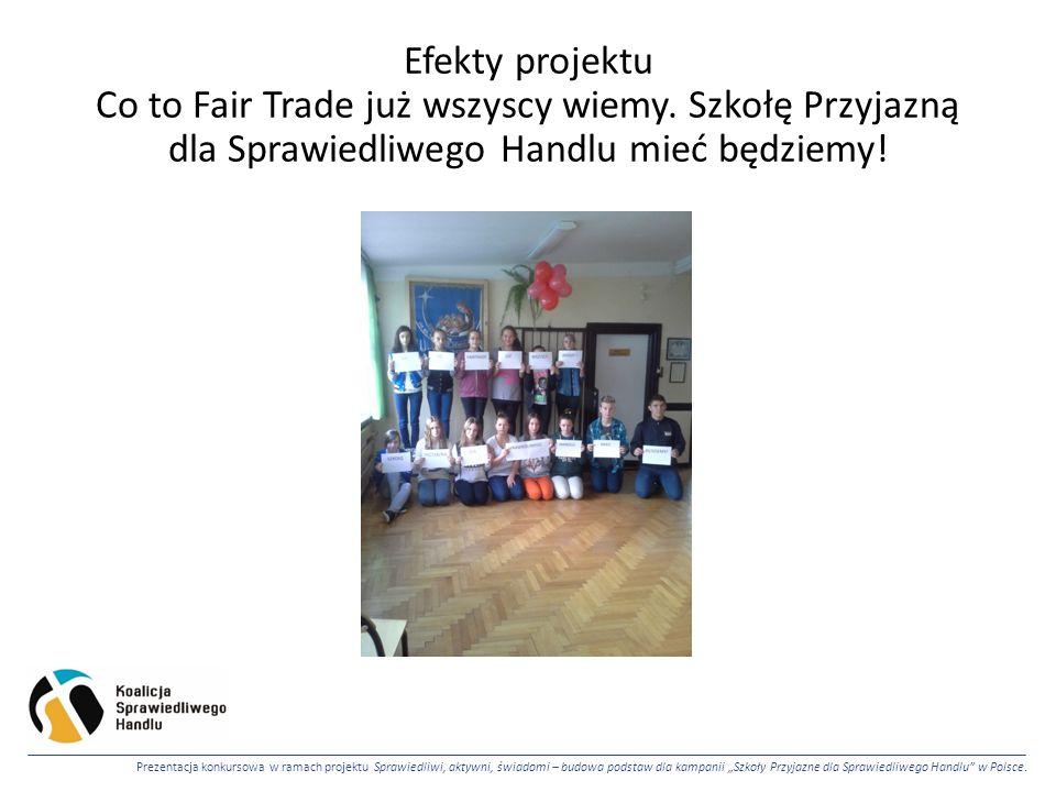 Efekty projektu Co to Fair Trade już wszyscy wiemy