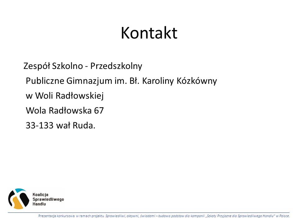 Kontakt Zespół Szkolno - Przedszkolny Publiczne Gimnazjum im.