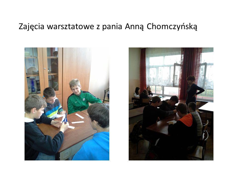 Zajęcia warsztatowe z pania Anną Chomczyńską
