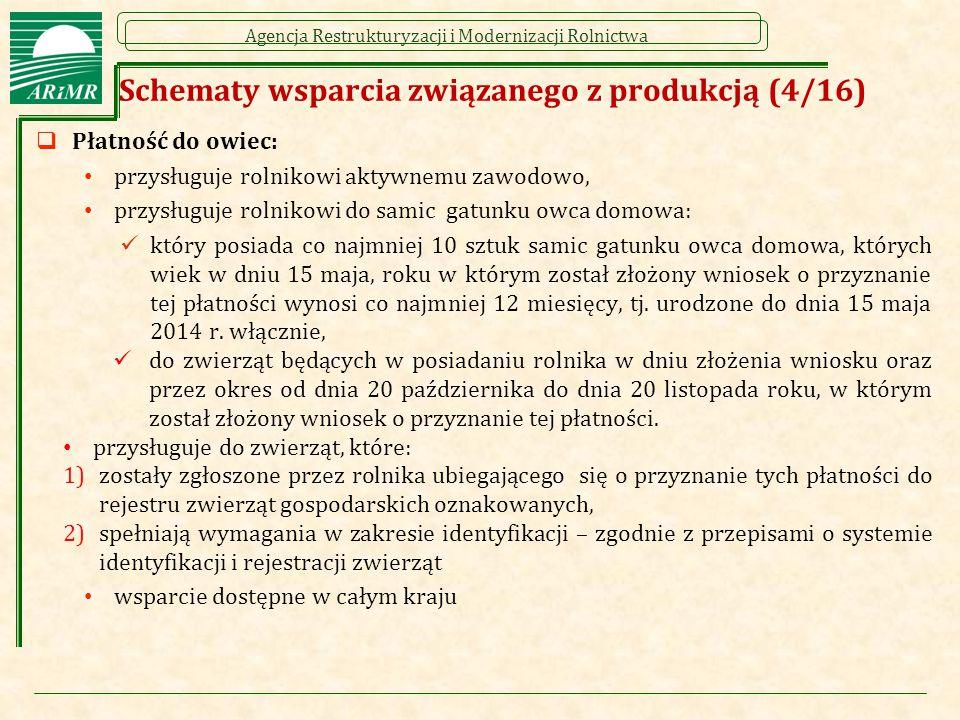 Schematy wsparcia związanego z produkcją (4/16)