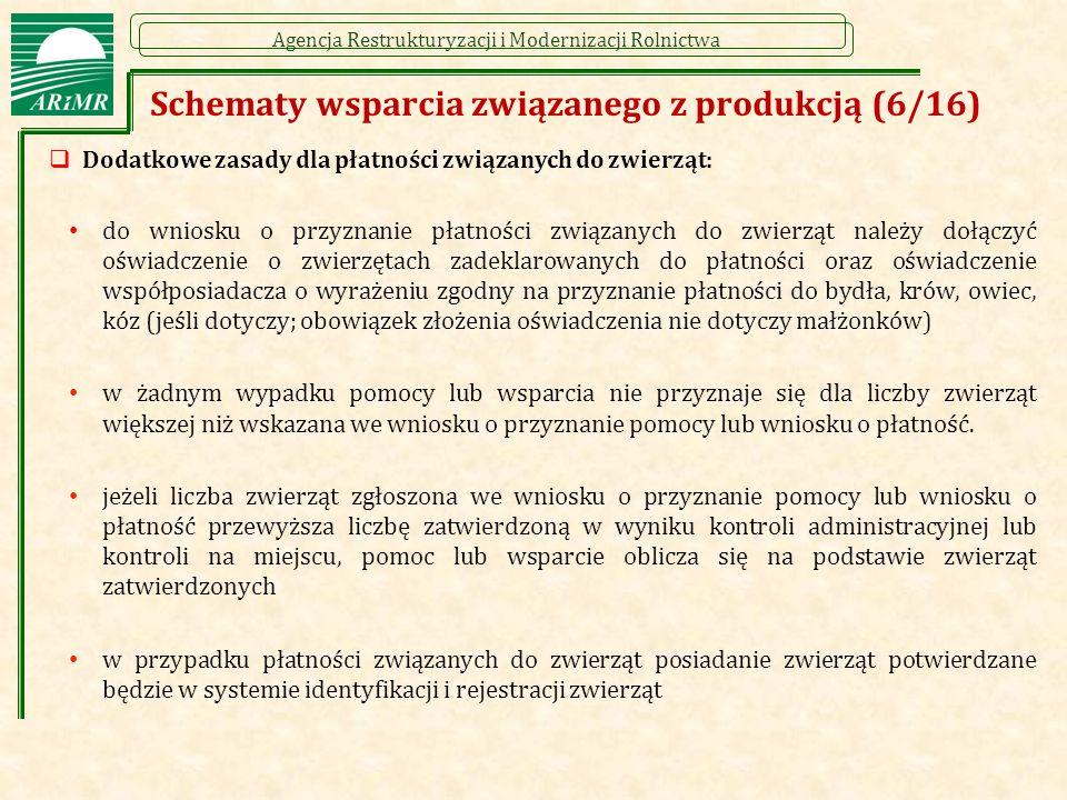 Schematy wsparcia związanego z produkcją (6/16)