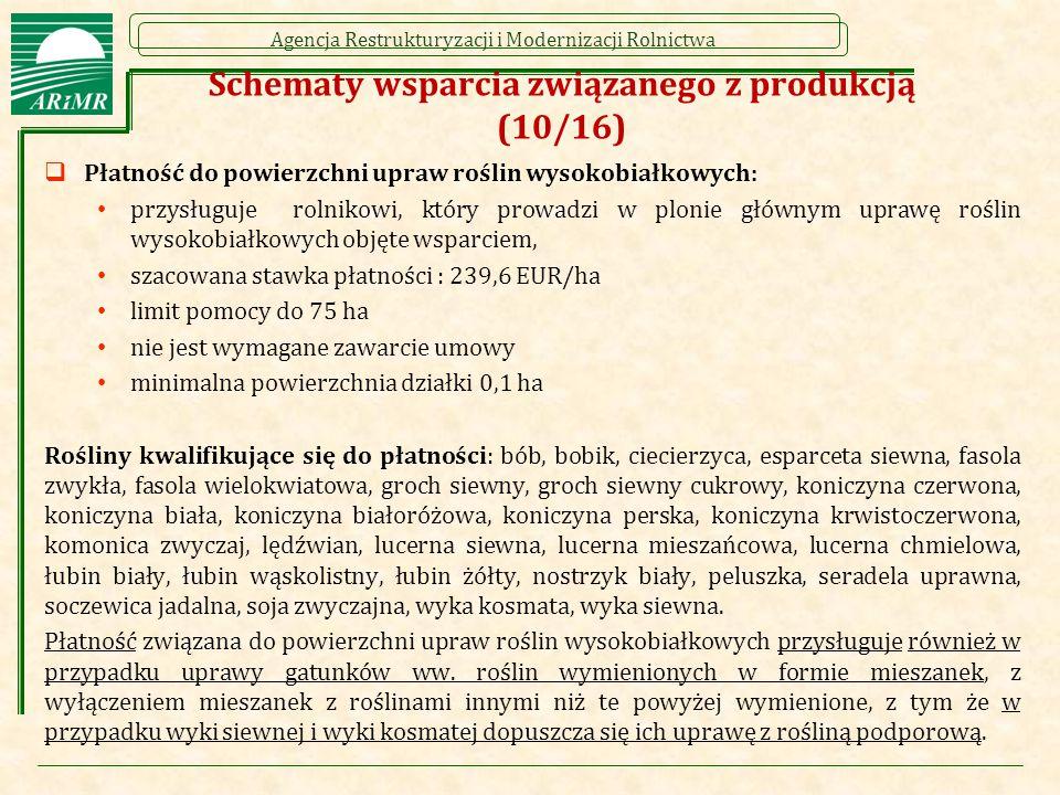 Schematy wsparcia związanego z produkcją (10/16)