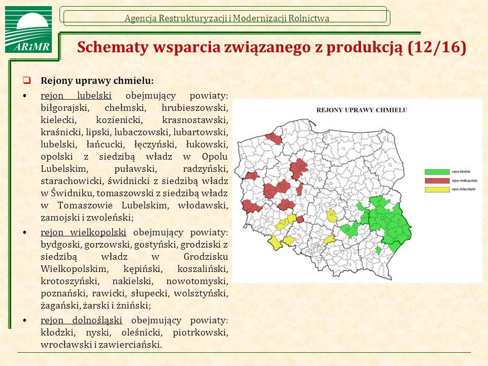 Schematy wsparcia związanego z produkcją (12/16)