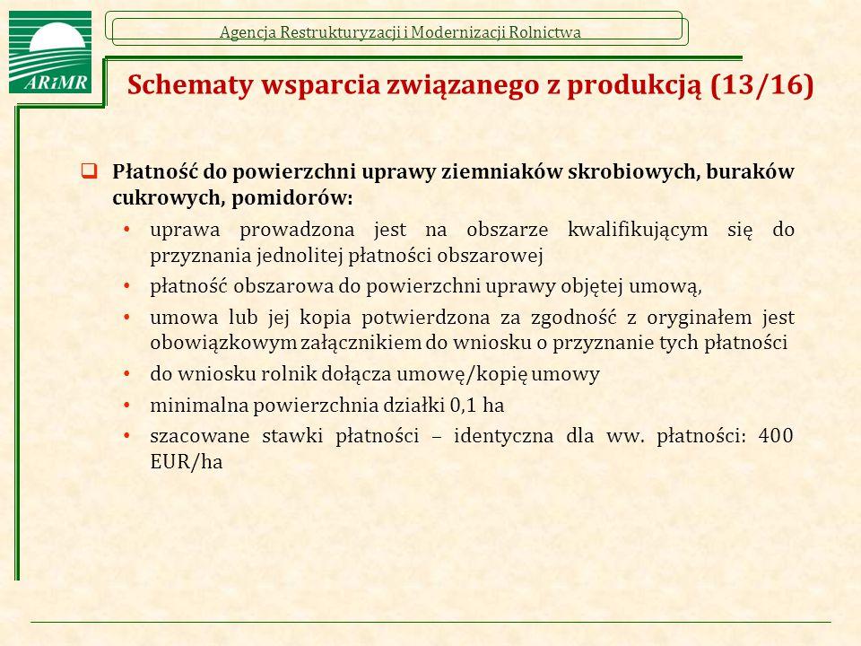 Schematy wsparcia związanego z produkcją (13/16)