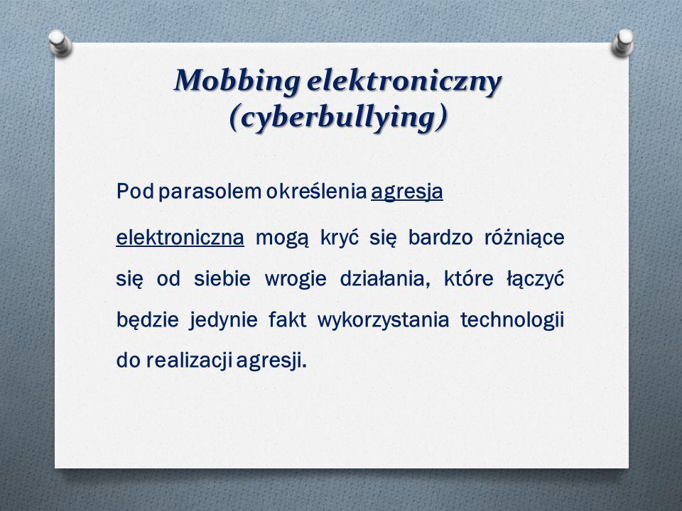 Mobbing elektroniczny (cyberbullying)