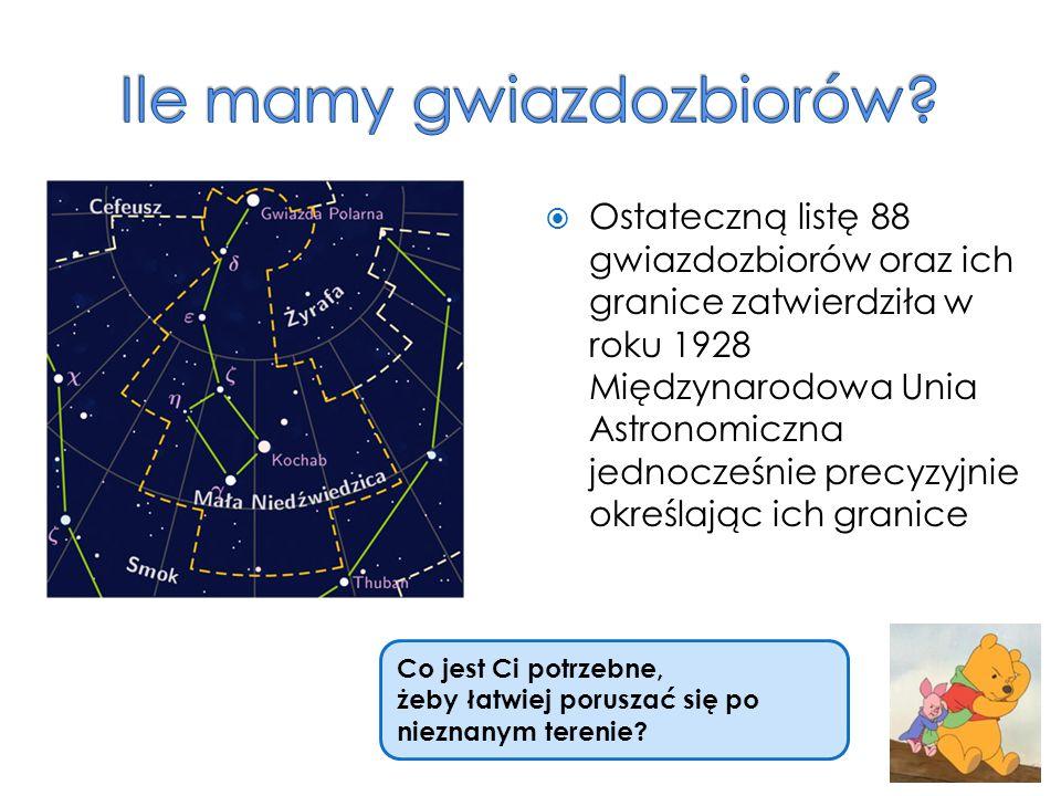 Ile mamy gwiazdozbiorów