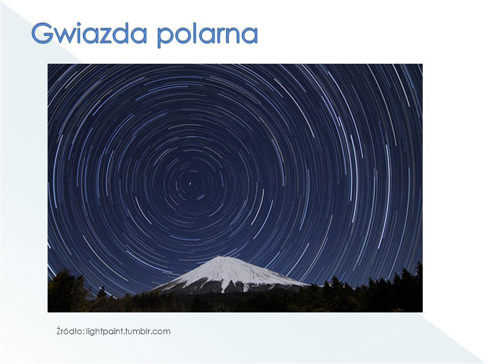 Gwiazda polarna Źródło: lightpaint.tumblr.com