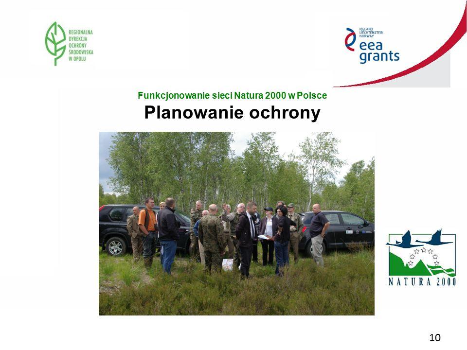 Funkcjonowanie sieci Natura 2000 w Polsce Planowanie ochrony