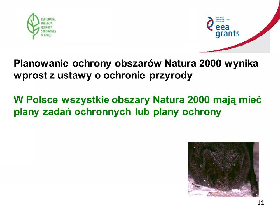 Planowanie ochrony obszarów Natura 2000 wynika wprost z ustawy o ochronie przyrody