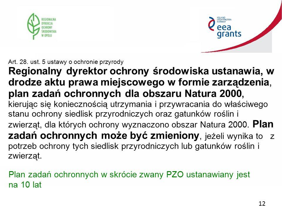 Art. 28. ust. 5 ustawy o ochronie przyrody