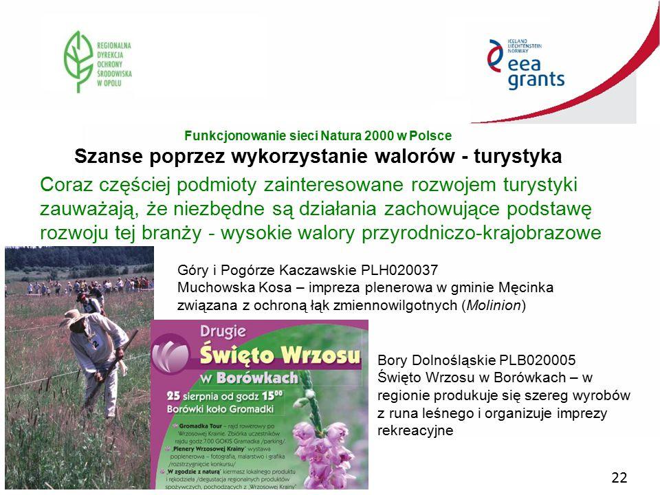 Funkcjonowanie sieci Natura 2000 w Polsce Szanse poprzez wykorzystanie walorów - turystyka