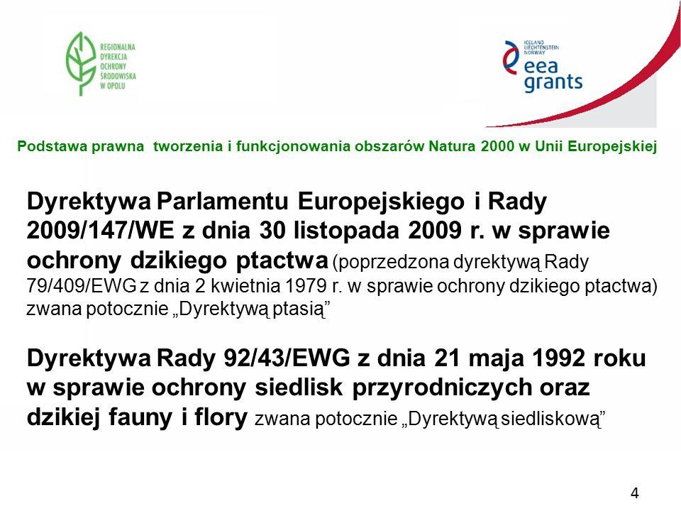 Podstawa prawna tworzenia i funkcjonowania obszarów Natura 2000 w Unii Europejskiej