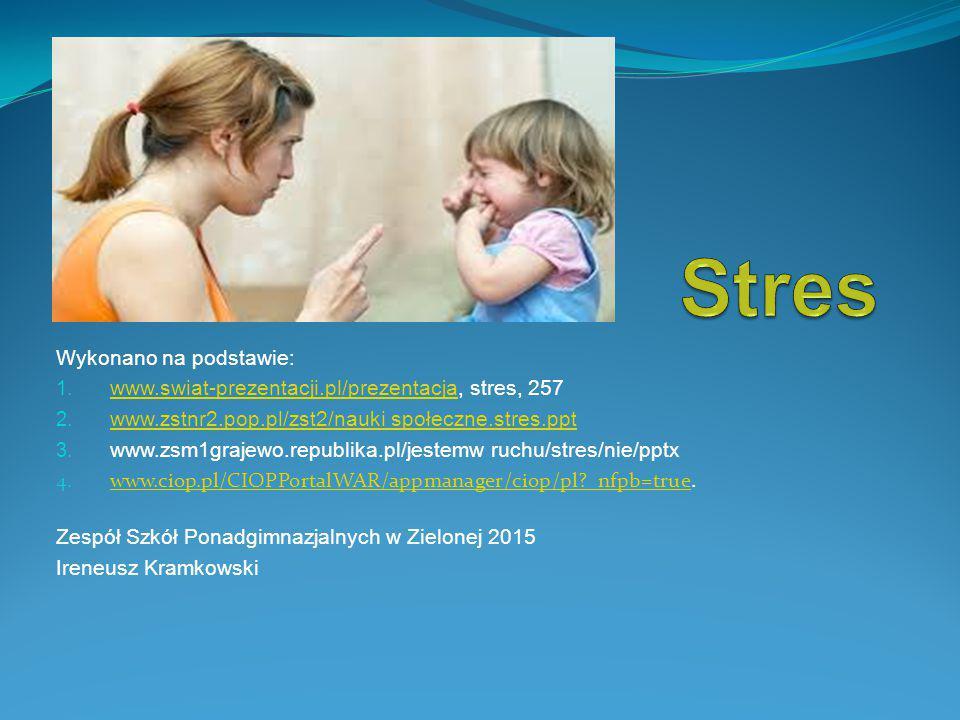 Stres Wykonano na podstawie: