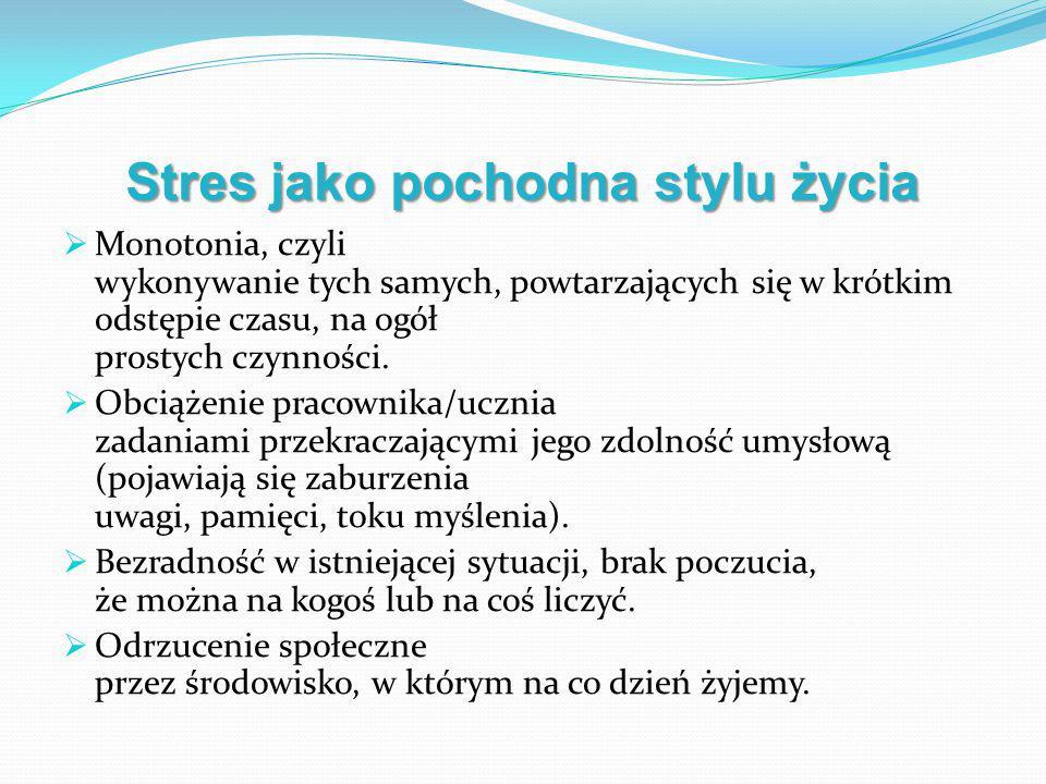 Stres jako pochodna stylu życia