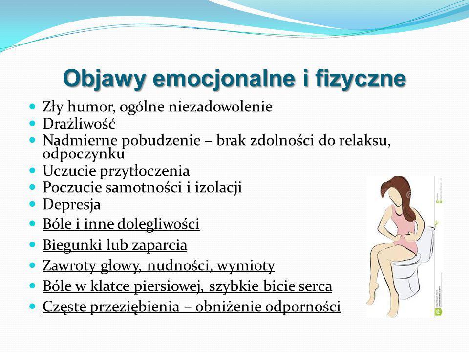 Objawy emocjonalne i fizyczne