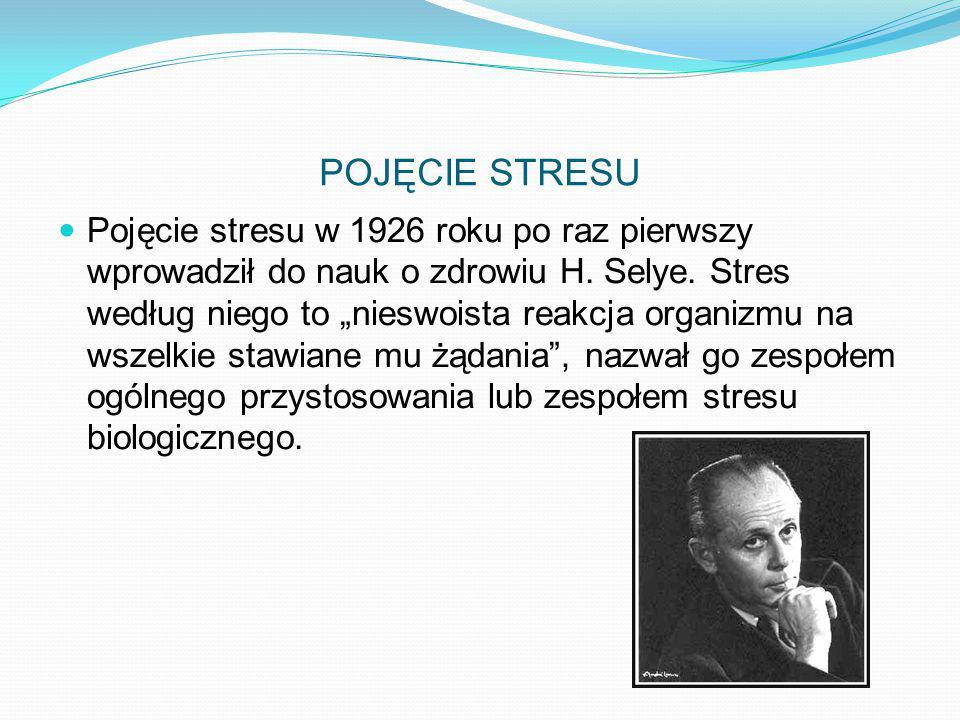 POJĘCIE STRESU