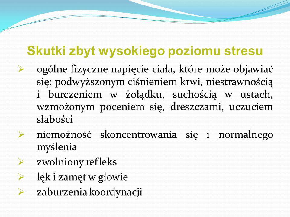 Skutki zbyt wysokiego poziomu stresu