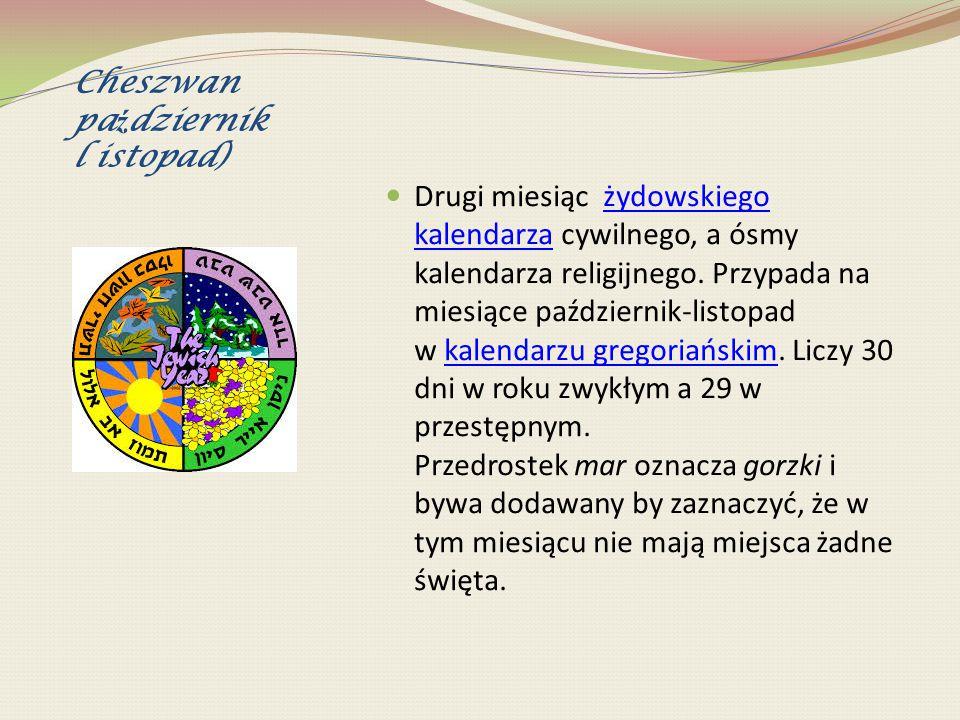 Cheszwan październik l istopad)