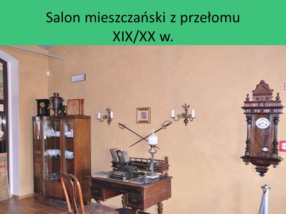 Salon mieszczański z przełomu XIX/XX w.