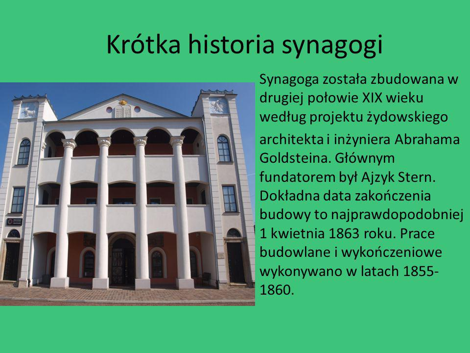 Krótka historia synagogi
