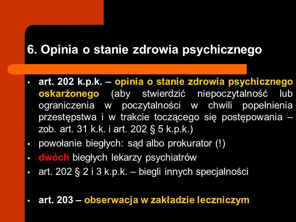 6. Opinia o stanie zdrowia psychicznego