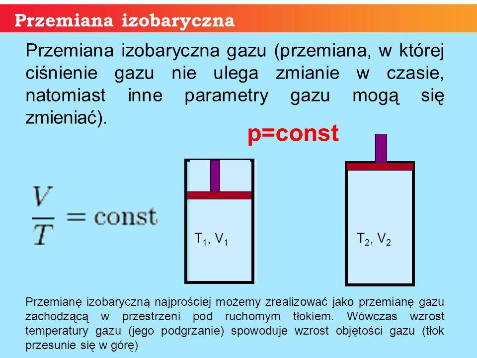 p=const Przemiana izobaryczna