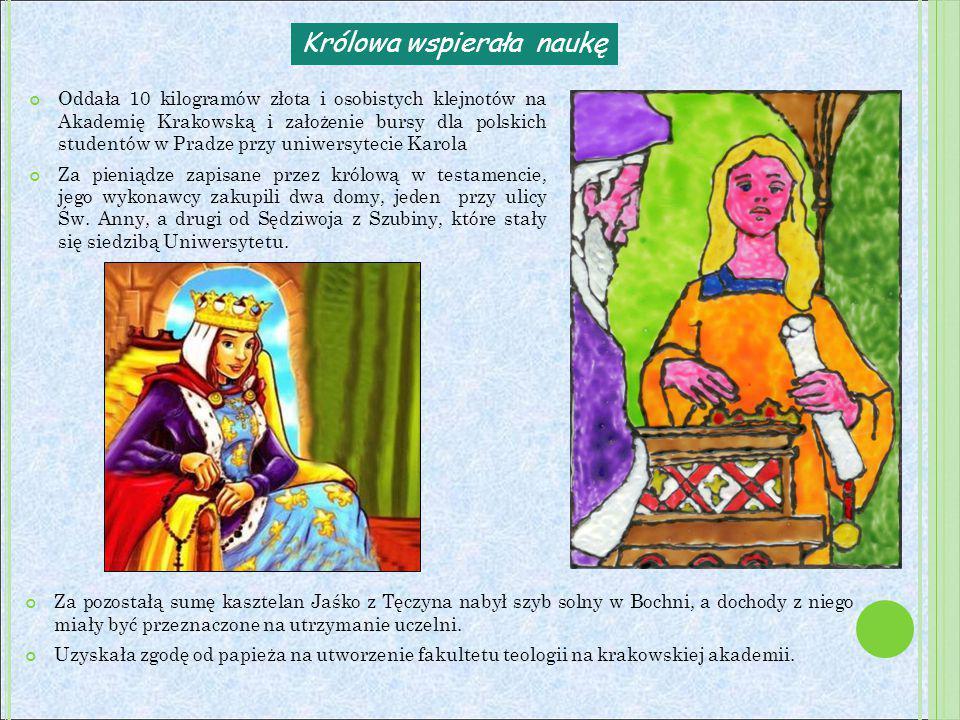 Królowa wspierała naukę