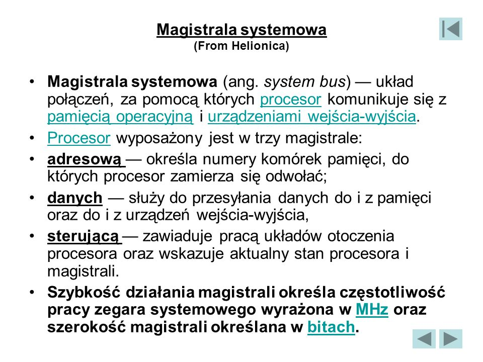 Magistrala systemowa (From Helionica)