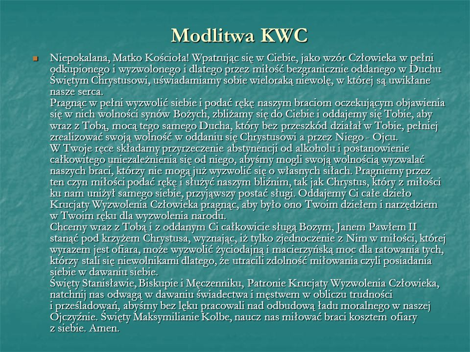Modlitwa KWC