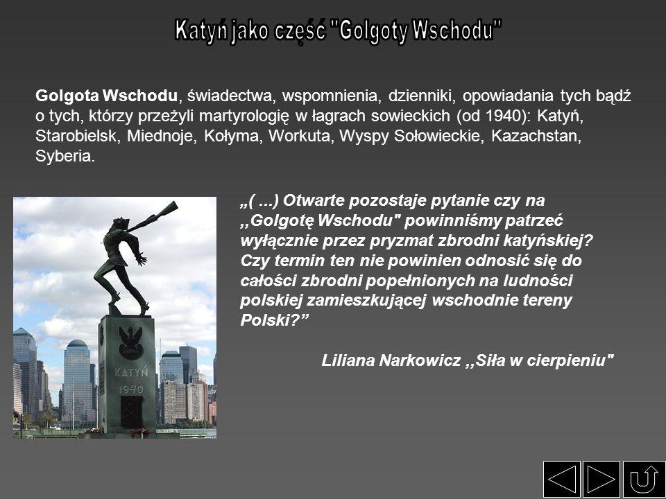 Katyń jako część Golgoty Wschodu