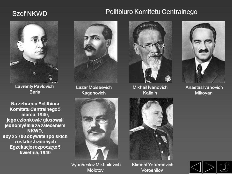 Politbiuro Komitetu Centralnego Szef NKWD