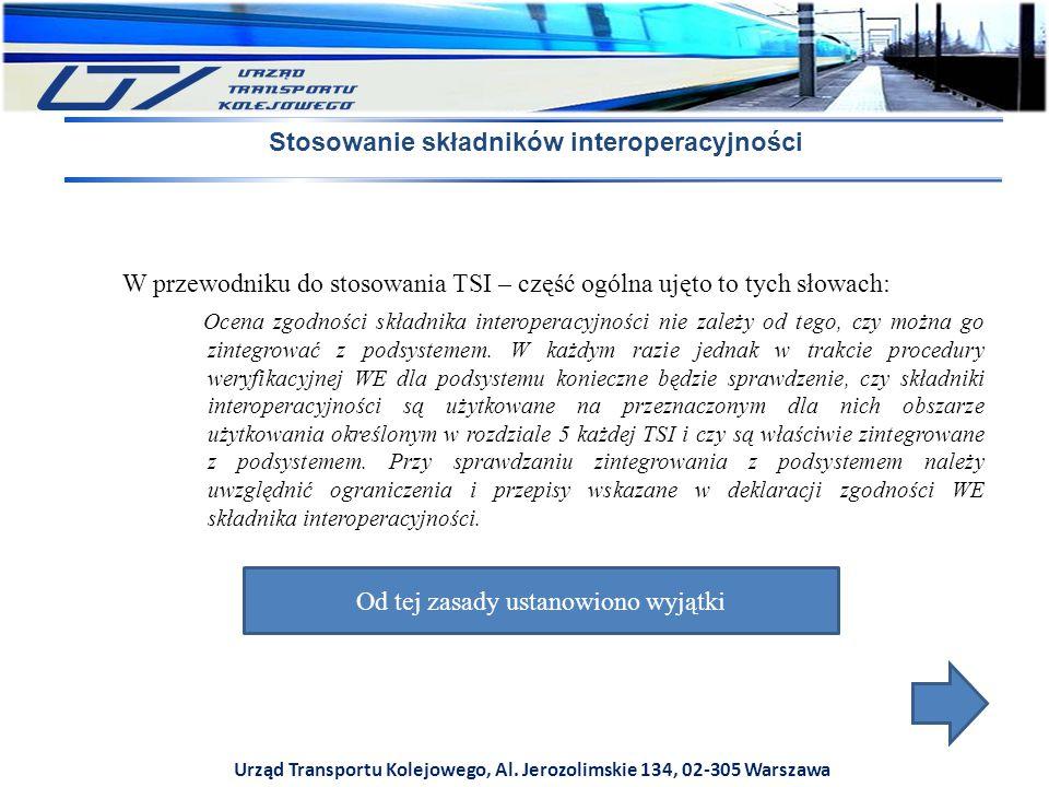 Stosowanie składników interoperacyjności