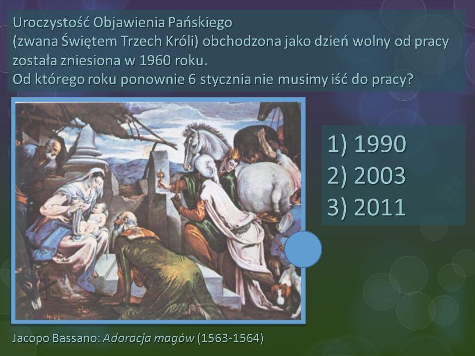Uroczystość Objawienia Pańskiego (zwana Świętem Trzech Króli) obchodzona jako dzień wolny od pracy została zniesiona w 1960 roku. Od którego roku ponownie 6 stycznia nie musimy iść do pracy