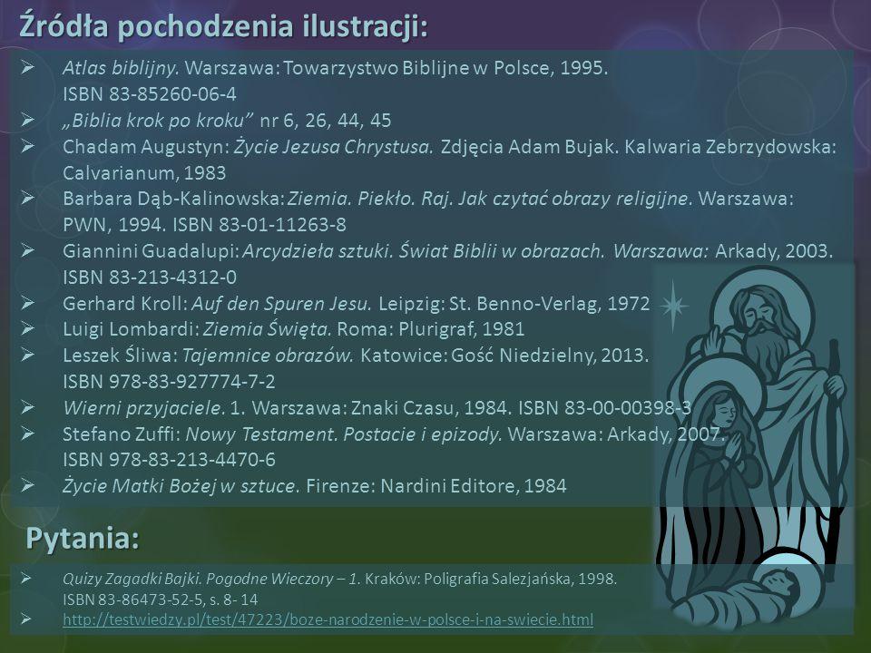 Źródła pochodzenia ilustracji: