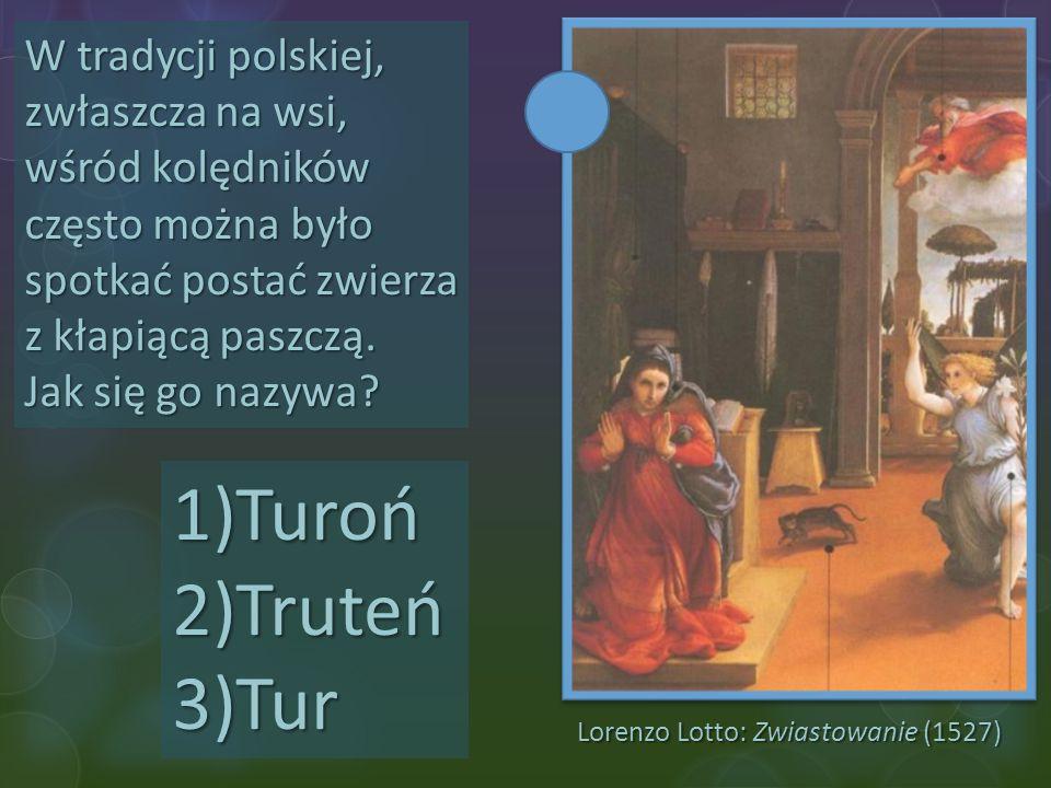 W tradycji polskiej, zwłaszcza na wsi, wśród kolędników często można było spotkać postać zwierza z kłapiącą paszczą. Jak się go nazywa